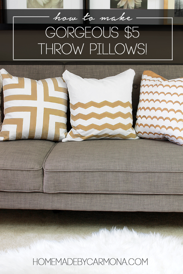 How To Make Gorgeous $5 Throw Pillows