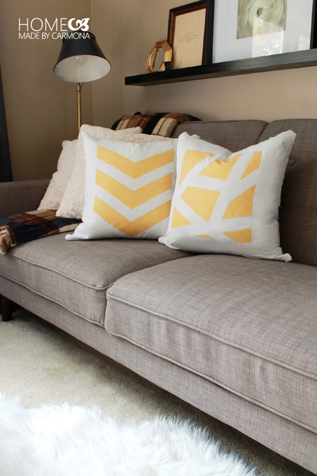 Make Cute Yellow DIY Throw Pillows
