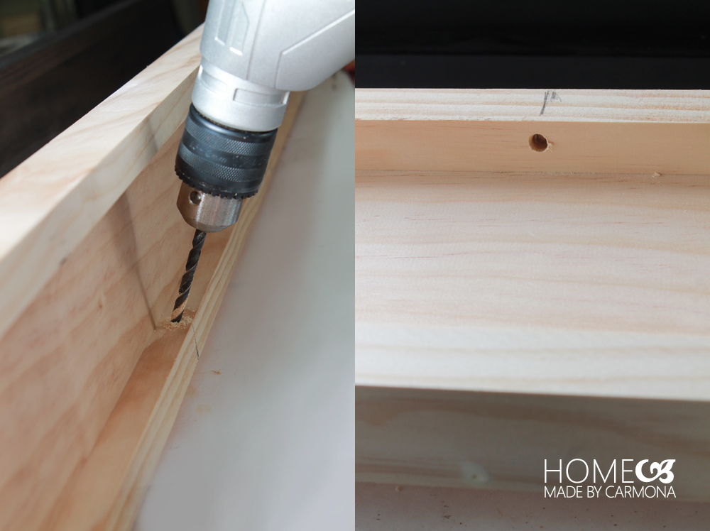 Picture ledge - drill holes