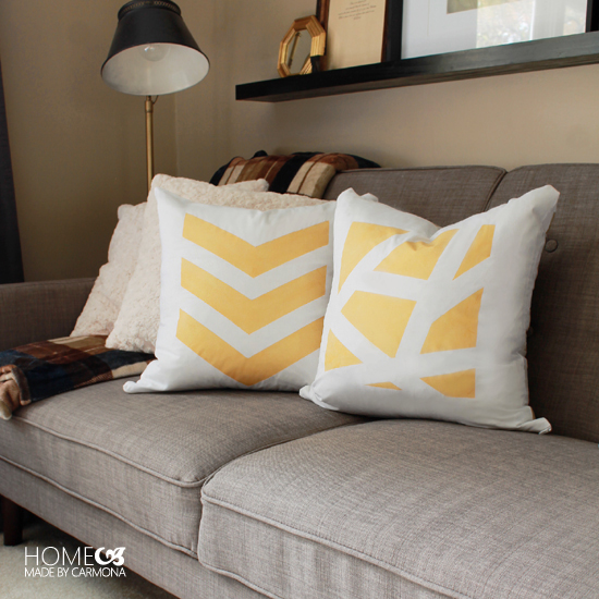 These cute DIY Throw Pillows Cost $5 to make