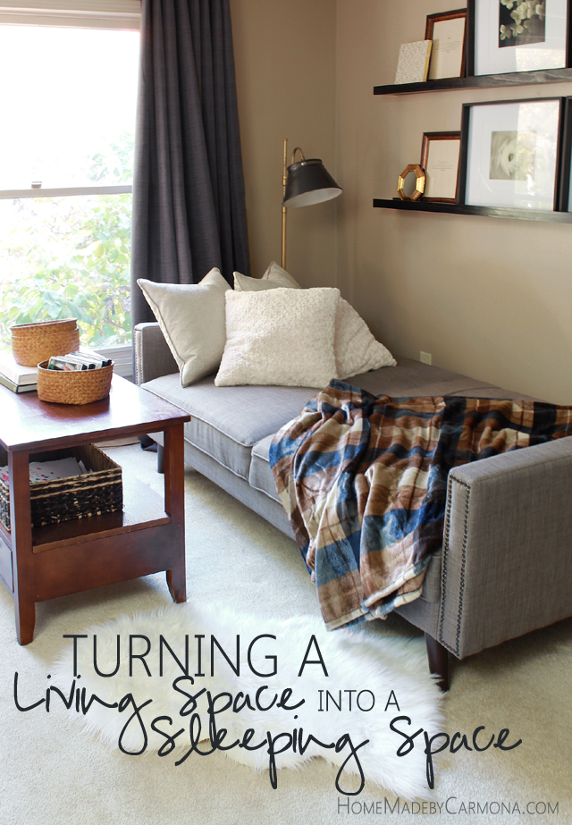 Turning a Living Space into a Comfy Sleeping Space