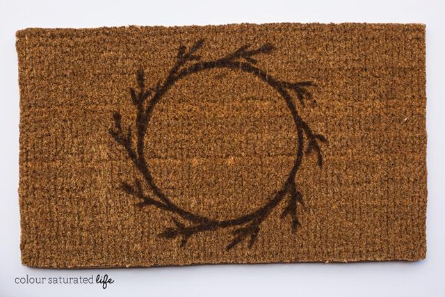 Colour Saturated Life   DIY Wreath Doormat