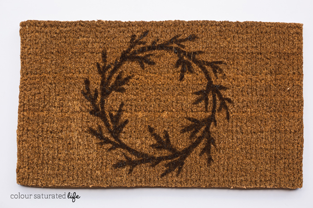 Colour Saturated Life   DIY hand painted wreath doormat