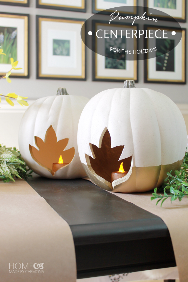 DIY Pumpkin Centerpiece for the holidays