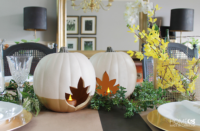 Faux Pumpkin Centerpiece