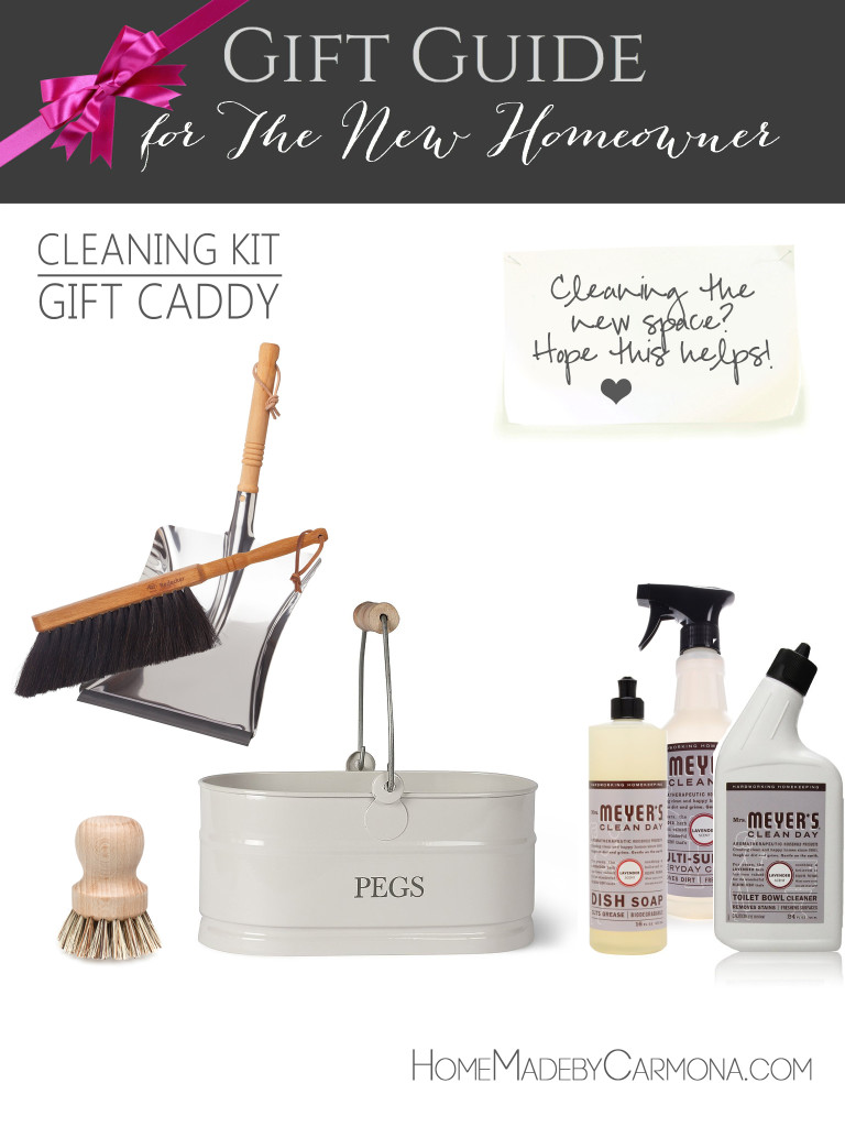 Gift Guide for the New Homeowner - Cleaning Kit Gift Caddy