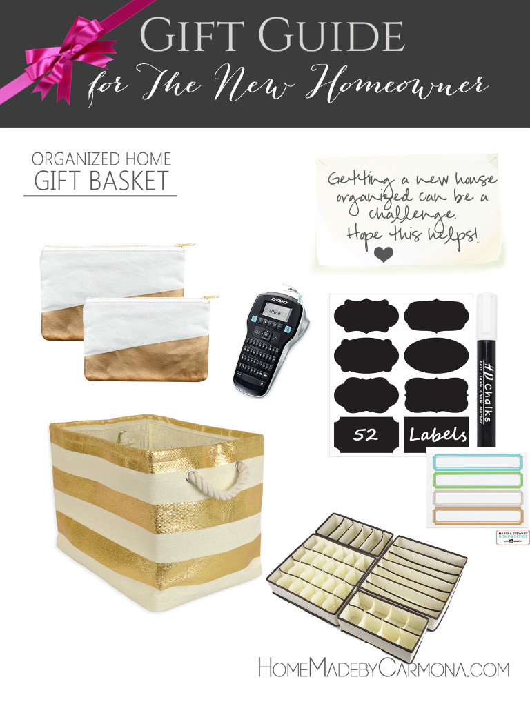 Gift Guide for the New Homeowner - organized home