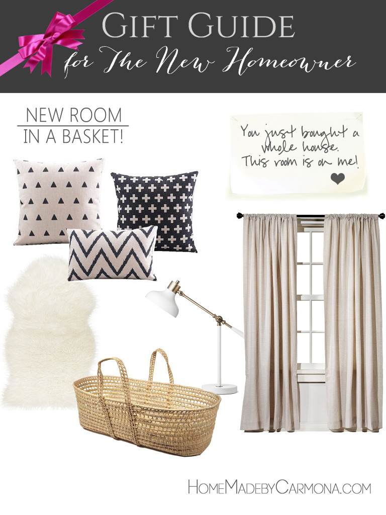 Gift Guide for the new Homeowner - New Room gift basket