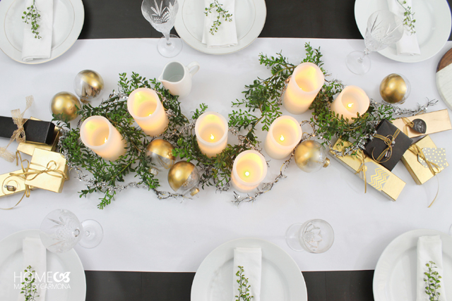 Christmas Candle Lit Tablescape