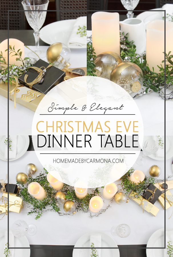 Simple and Elegant Christmas Eve Dinner Table