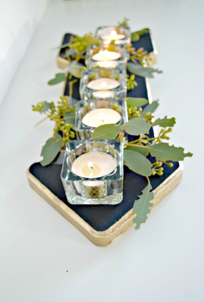 Candle wood centrepiece4