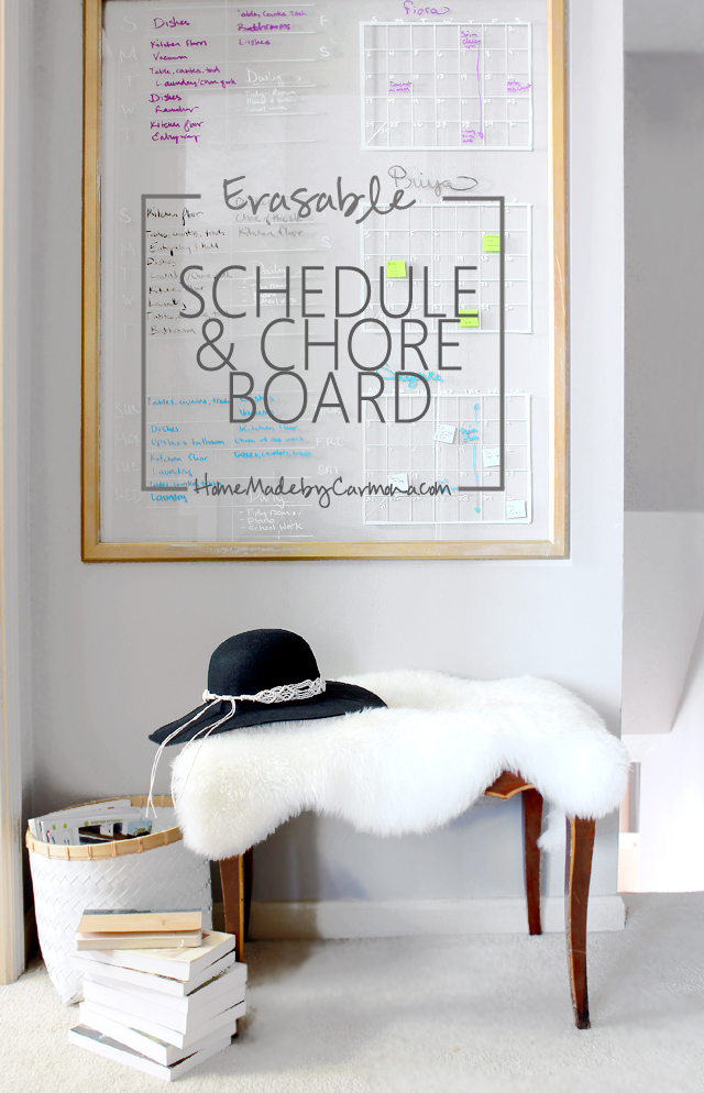 DIY Schedule & Chore Board