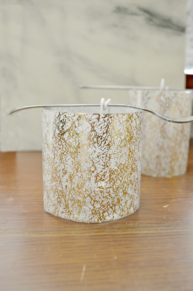 Decoupaged Soy Candles 1