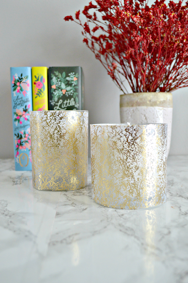 Decoupaged Soy Candles DIY tutorial