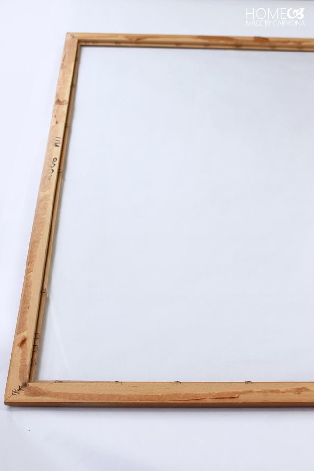 Frame and glass for schedule board