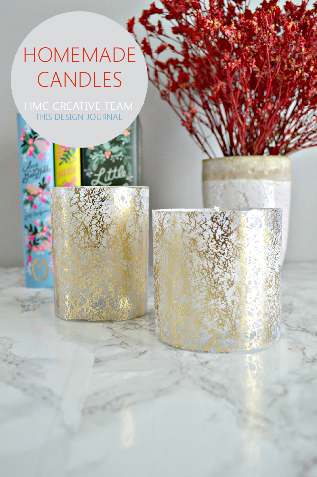 Homemade Decoupaged Candles - This Design Journal for Home Made by Carmona