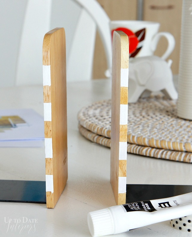 Bookends striped painted