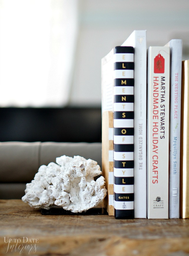 Do-it-yourself Coral Bookends | Up To Date Interiors