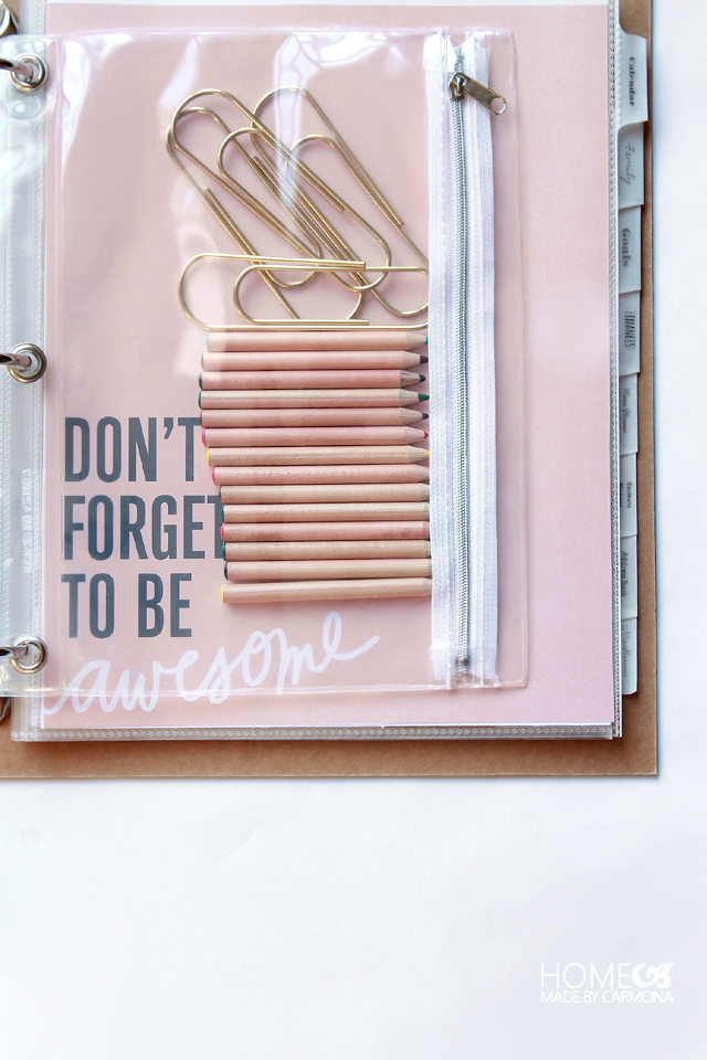 Don't forget to be awesome - Home Management Binder