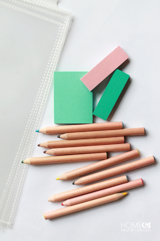Home Binder - Post its and pencils
