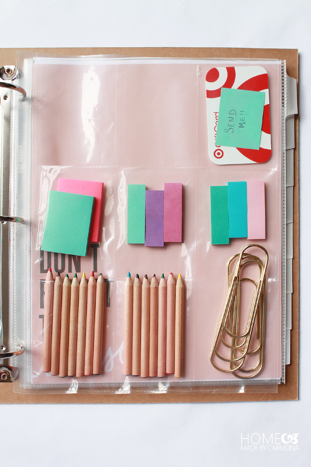 Home Management Binder - Storage
