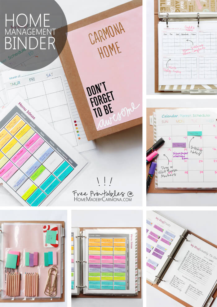Home Management Binder - with free printables