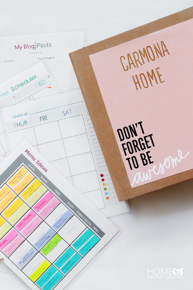 Household Management Binder with free printables