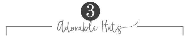 3 - Adorable Hats