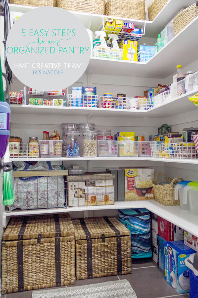 5 Easy Steps to an Organized Pantry - Iris Nacole