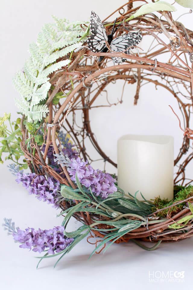 Beautiful Peekaboo Basket Wreath