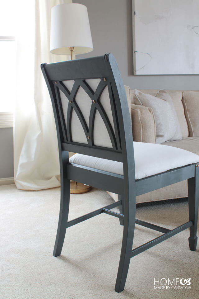 Chair Makeover - designed backing