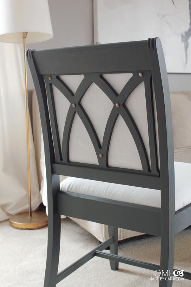 Chair backing with DIY tufted inlay