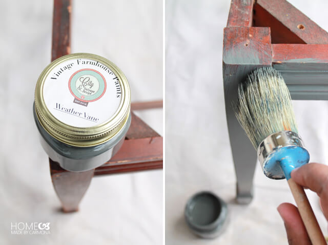 Chair makeover - the paint job
