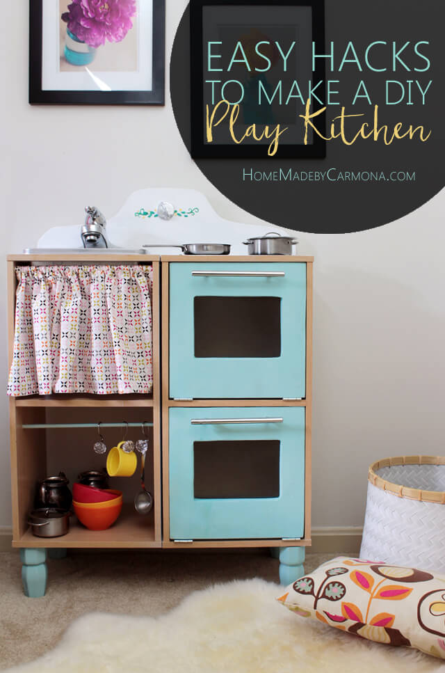 Easy hacks to make a cute DIY play Kitchen