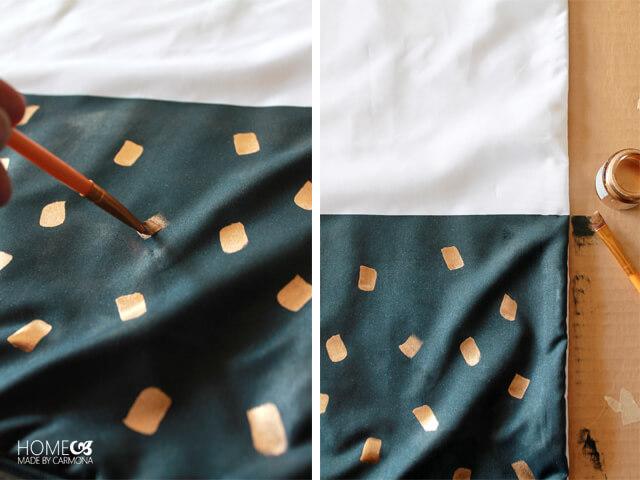 Gold Dot DIY Pillow How-To