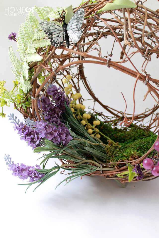 Grapevine Basket Wreath