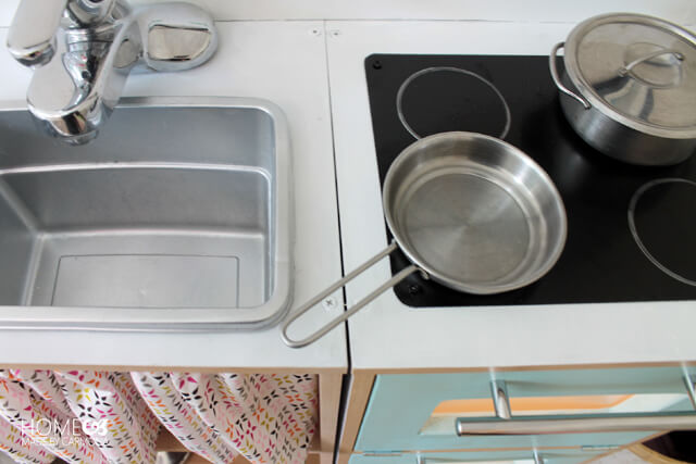 Kids kitchen set - DIY sink and electric range