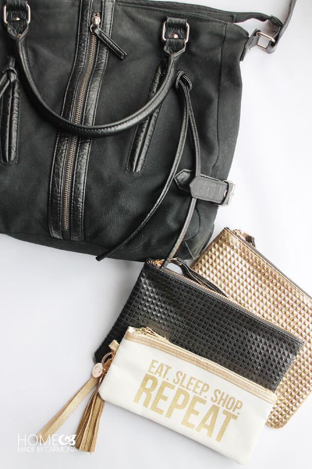 Organized Purse - cute zippered bags