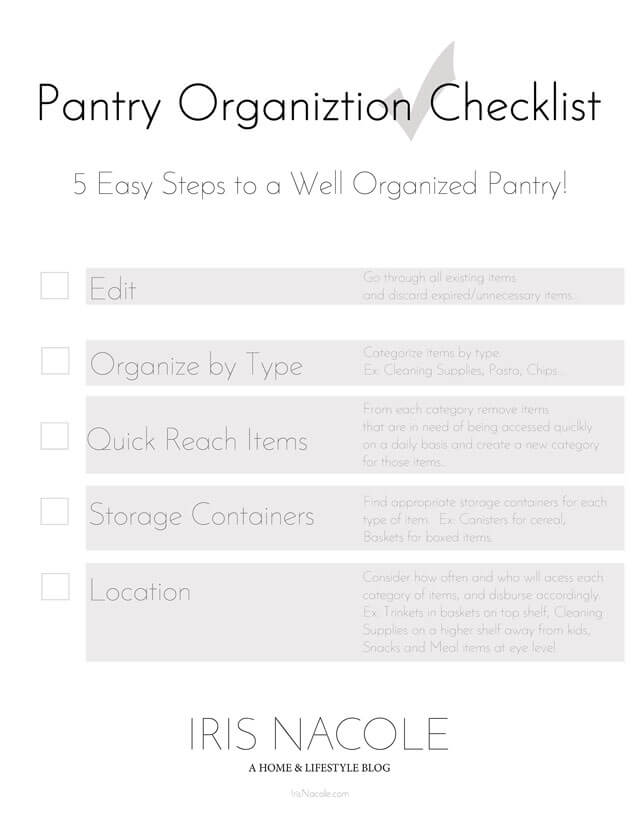 Pantry-Organization-Checklist