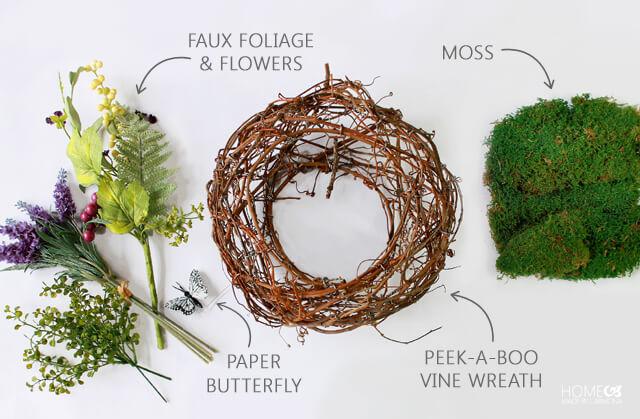Peek-A Boo Wreath - materials