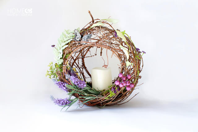 Peekaboo grapevine wreath