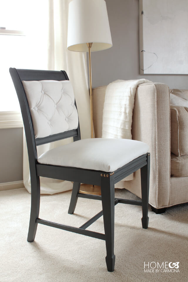 Stunning DIY Chair Makeover - before and after