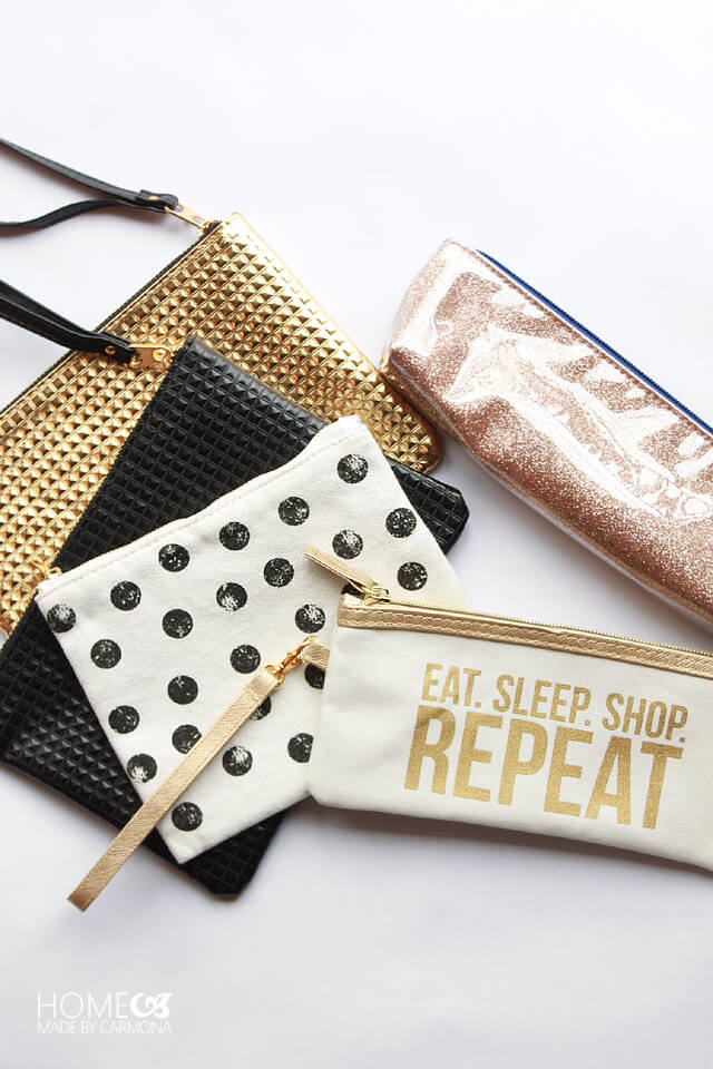 Stylish makeup bags and pencil cases