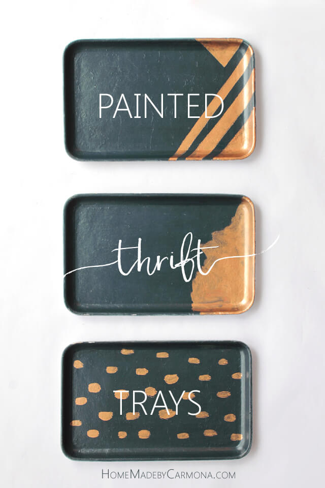 Painted Thrift Trays