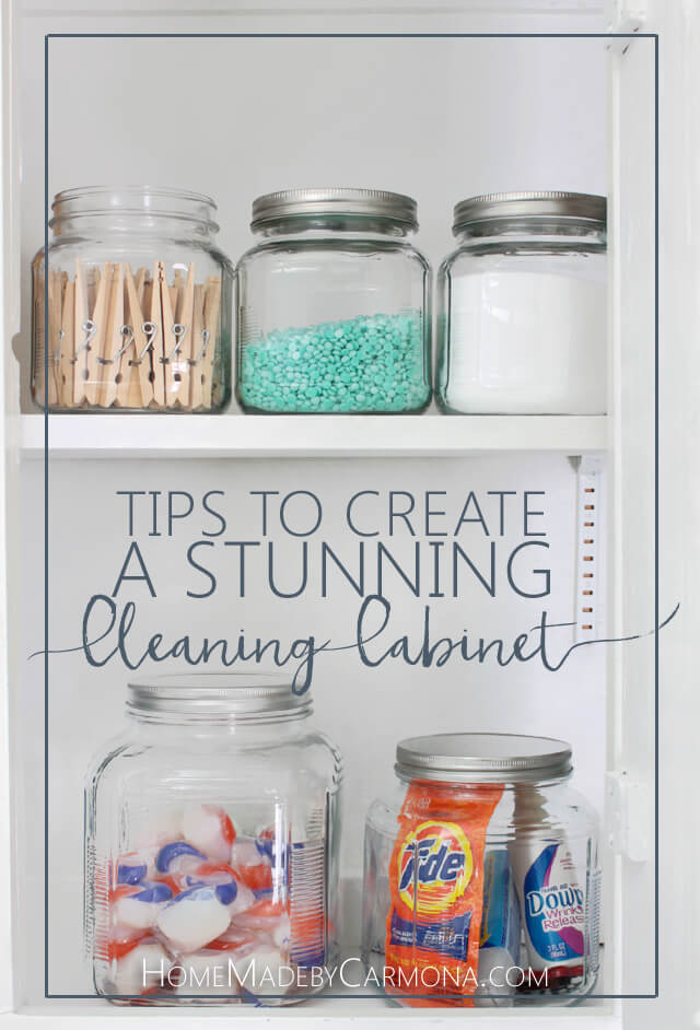 Tips to Create a Stunning Cleaning Cabinet