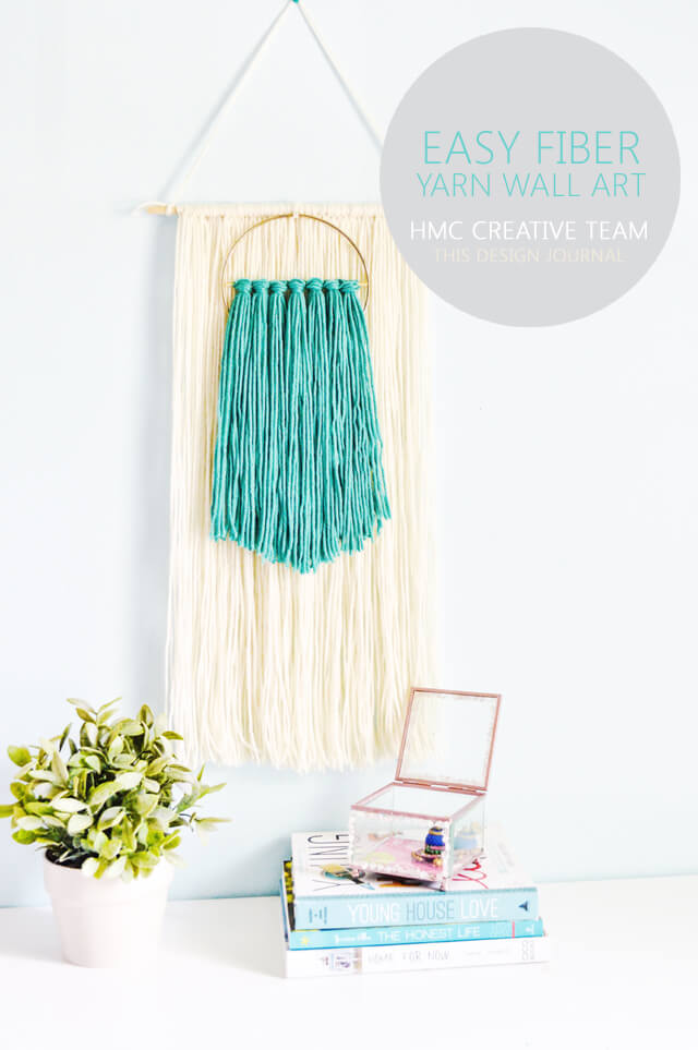 Easy Fiber Yarn Wall Art - by This Design Journal