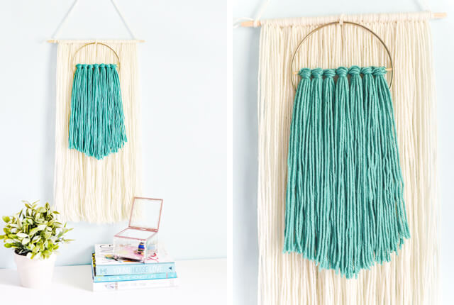 Easy Fiber Yarn Wall Hanging