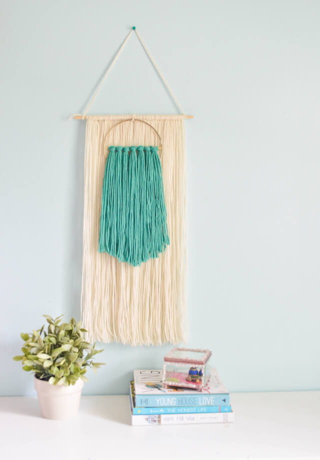 Easy Fiber art wall hanging