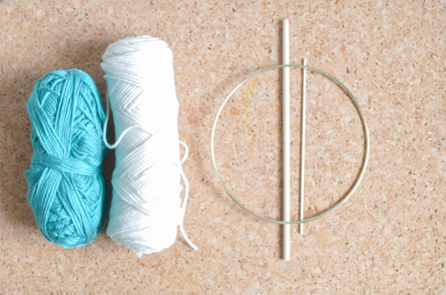 Easy yarn art wall hanging supplies