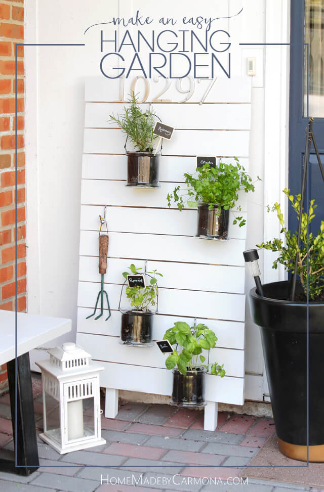 How to make an easy Vertical Hanging Garden